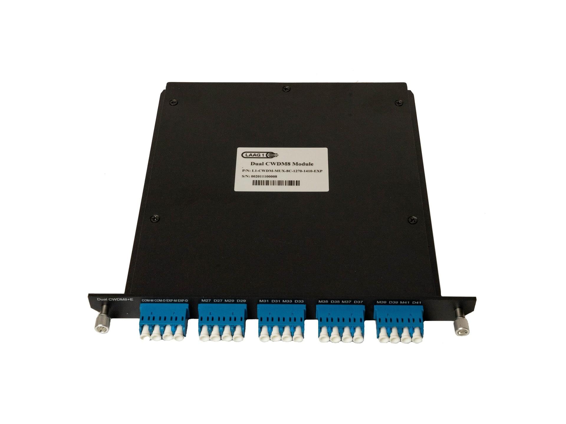 CWDM Mux 8 kanalen van 1470-1610nm (overslaan van waterband, 1390 en 1410) LC/UPC Monitor Expansie poort